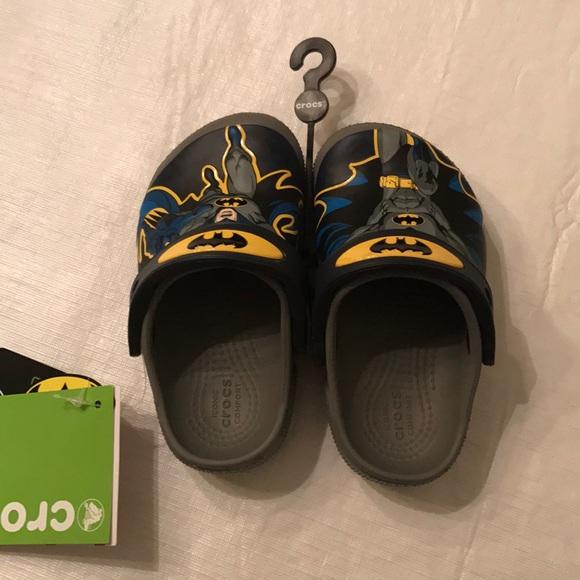 54c591f7b68b50 NWT Crocs Funlab Batman Clogs for Boys
